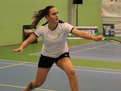Třetí nejlepší česká singlistka a aktuálně 310. hráčka světového žebříčku - Sabina Milová z SK Badminton Český Krumlov.