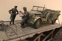 Diorama německé armády.