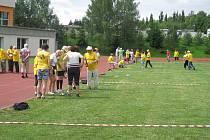Sportovní seniorské hry v Kaplici měly díky účasti studentů i mezigenerační přesah
