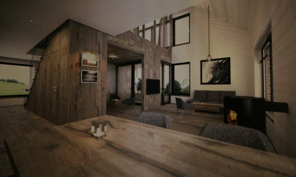 Vizualizace apartmánového domu v Černé v Pošumaví.