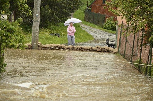 Záplavy v Kaplici.