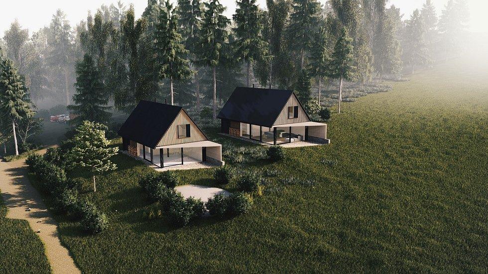 Domy by měly u lesa u Kyselova stát dva.