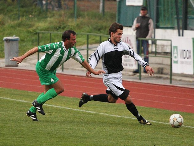 Fotbalové utkání A skupiny oblastní I. B třídy / FK Slavoj Český Krumlov B - FK Dynamo Vyšší Brod 2:0 (0:0).