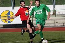 Fotbalové utkání A skupiny oblastní I. B třídy / FK Slavoj Český Krumlov B - Nová Ves 4:0 (0:0).