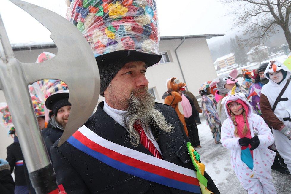 Masopust v Loučovicích byl letos na Českokrumlovsku první.