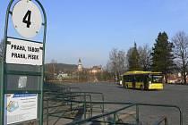 Autobusové nádraží v Českém Krumlově.