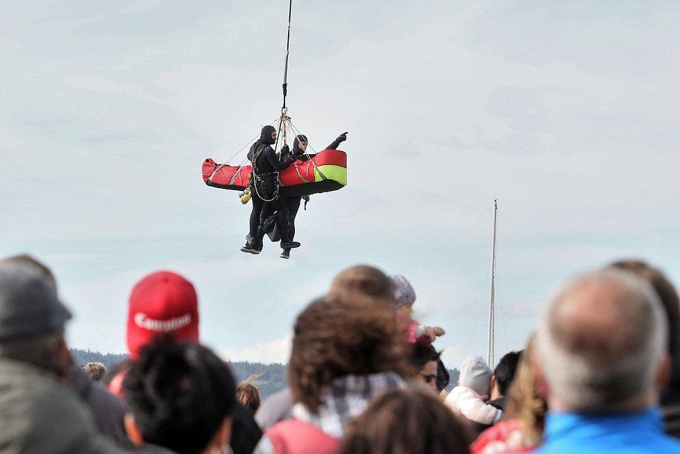 Vodní záchranáři na Lipně slavili 50 let své existence.