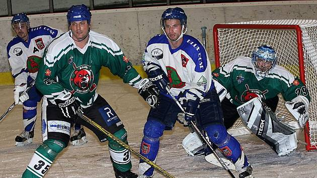 Hokejové utkání krajské ligy mužů / HC Slavoj Český Krumlov - HC Vimperk 7:5.