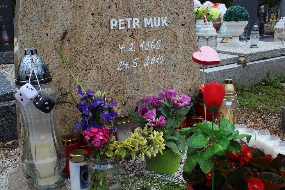 Hrob Petra Muka v Českém Krumlově.