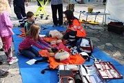 Akce Lipno dětem aneb Den s integrovaným záchranným systémem předvedl ukázky zásahů zachranářů a jejich spolupráci.