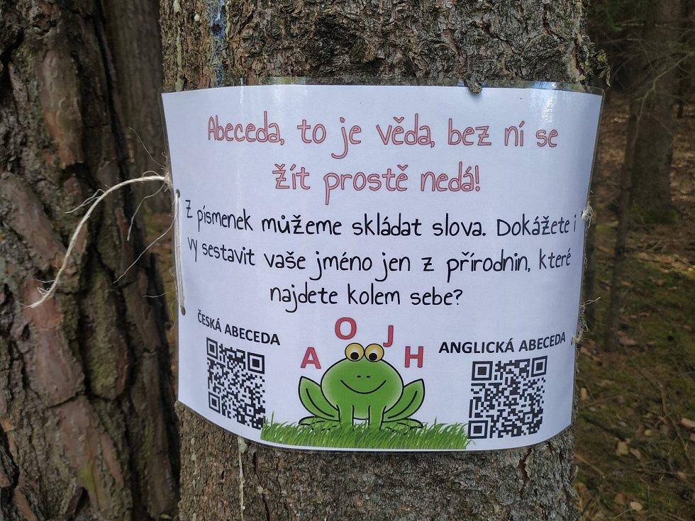 Stezka žabáka Kvaka v Besednici.
