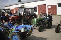Traktoriáda v Kájově.