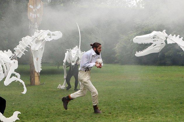 Dinosauři na otáčivém hledišti v Českém Krumlově