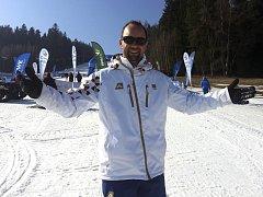 Do lipenského ski areálu zavítal olympijský vítěz Aleš Valenta.