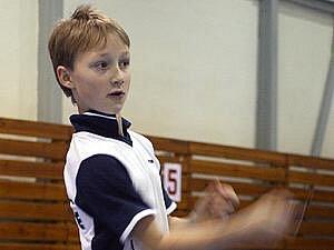 Oceněný křemežský badmintonista Petr Beran.