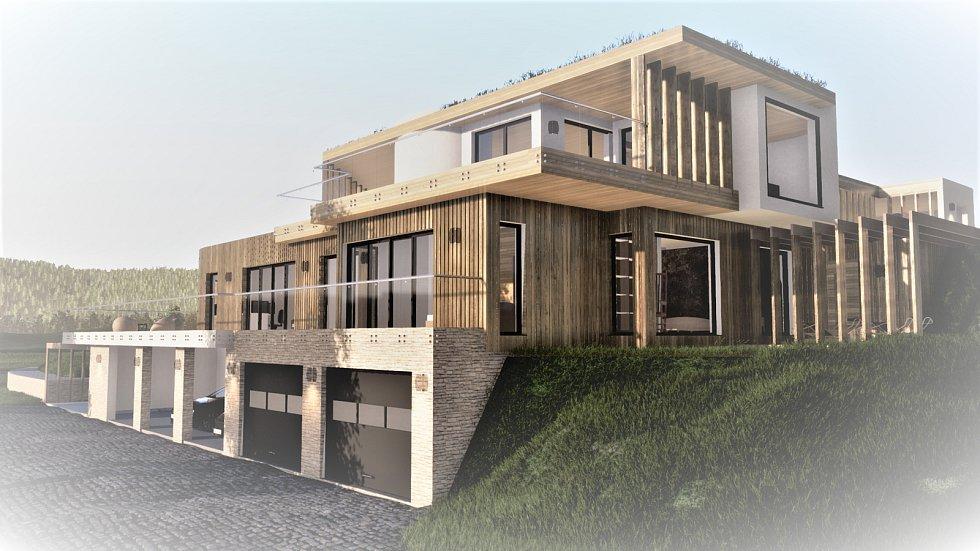 Dům jako součást krajiny, soutěžící HARFEN ateliér; Vítěz veřejného hlasování v kategorii Dřevěné budovy – návrhy.