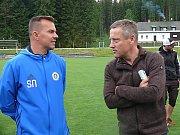 Trenéři Jiří Kotrba (vpravo) a Szilárd Németh