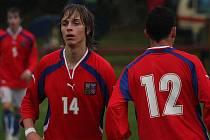 Hvězda utkání Filip Twardzik (vlevo).