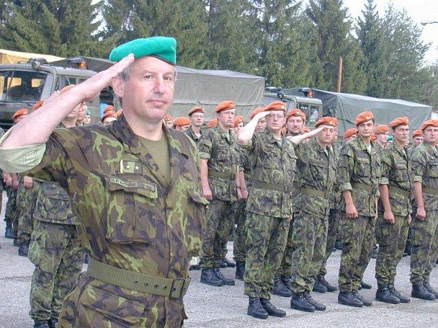 Loučení 74. Výcvikové brigády.