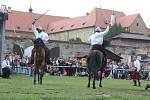 Atraktivní podívanou poskytly ukázky drezúry koní v Pivovarské zahradě.