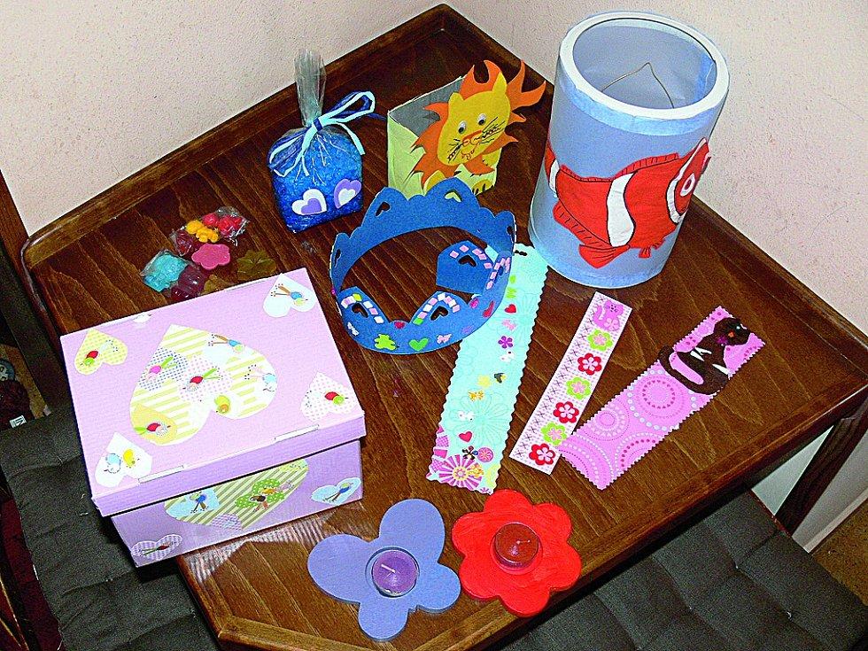 Ukázka výrobků z kreativního kurzu pro děti, které vznikly pod vedením Hany Šustrové.