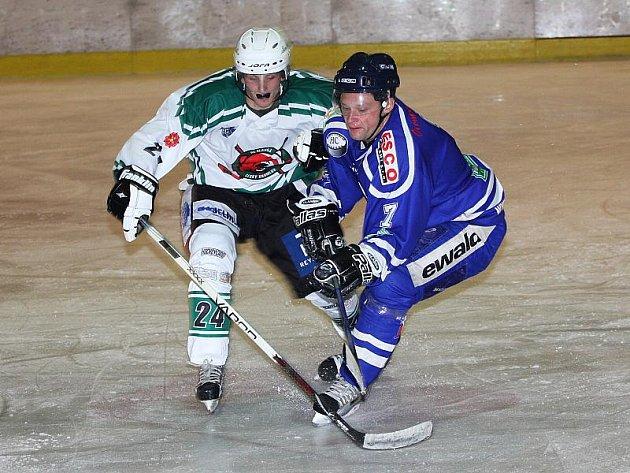 Hokejové utkání krajské ligy mužů / HC Slavoj Český Krumlov - HC Vimperk 3:4.
