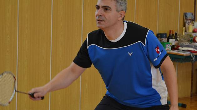 Křemežský kapitán Michal Koudelka (na snímku) na kurtech pražské Astry přispěl k bodovému kontu prvoligového oddílu z Podkletí zejména v mixu s Evou Sklářovou.