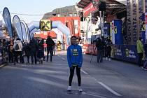 Atlet Jakub Janda si ze Silvestrovského silničního běhu městem Peuerbach odvezl stříbro.