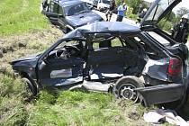 Nehoda na Holkově skončila lehkým zraněním jedné osoby.