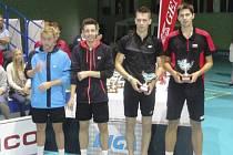 Druhé místo ve čtyřhře z Trenčína je pro krumlovského Jaromíra Janáčka a radotínského Pavla Drančáka (zprava) zatím nejlepším výsledkem v kariéře na mezinárodních turnajích.
