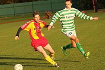 Fotbalové utkání A skupiny oblastní I. B třídy / FK Slavoj Český Krumlov B - Sokol Kamenný Újezd 0:1 (0:1).