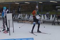 Talentovaný orientační běžec křemežského Sokola Jakub Novák na zimní Olympiádě dětí a mládeže.