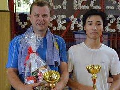 Vítězná dvojice David Parkos/Phan Van Than.