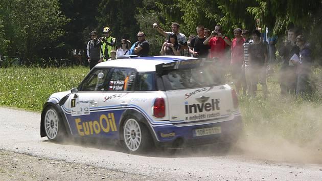 Rallye v Lipně nad Vltavou.