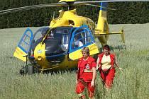 Ilustrační foto. Pro zraněného muže přiletěl vrtulník