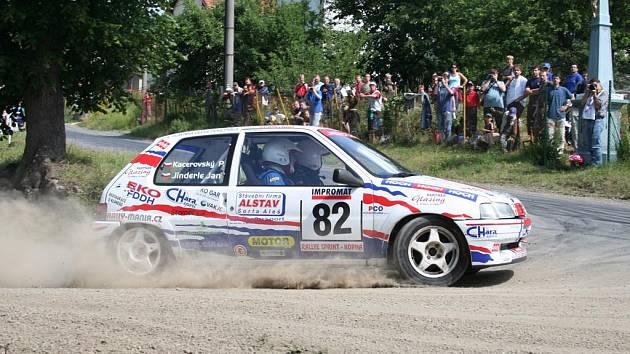 Jan Jinderle na trati Rallysprintu Kopná.