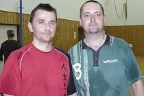 Nejlepší hráči desátého ročníku Přídolí Cupu - vítězný Josef Rychlík a stříbrný Roman Vochozka (zleva).