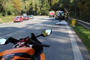 Tragická nehoda motorkáře v rájovském kopci před Přísečnou