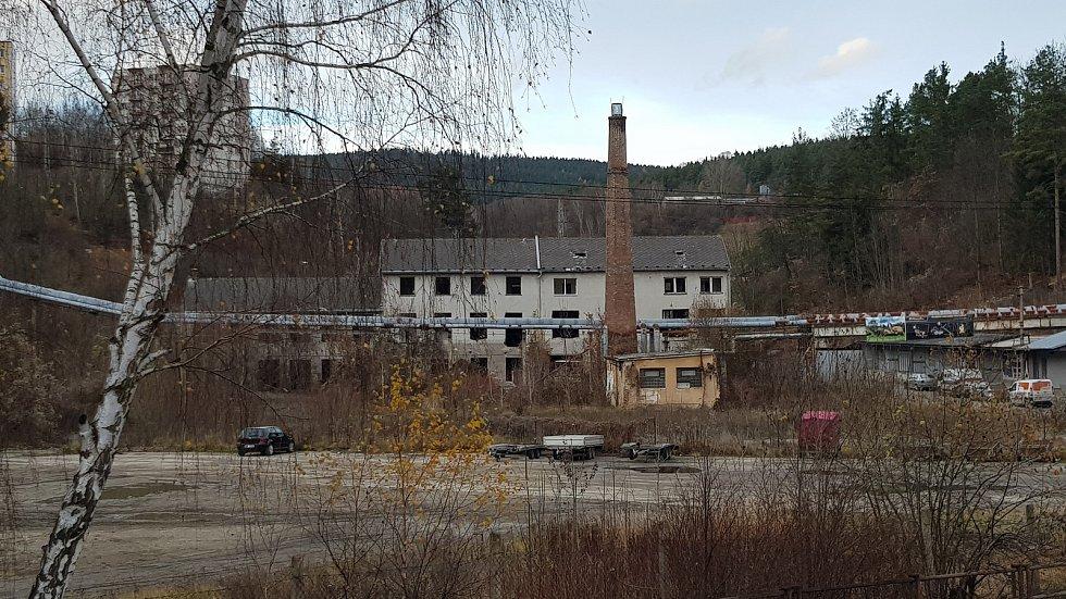 Bývalý areál Jitony na podzim roku 2019.
