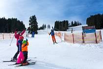 Podmínky na lyžování jsou na Lipně ideální.
