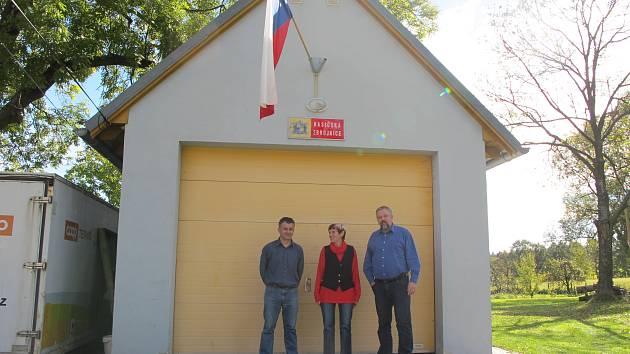 Volební komise v Pořešíně.