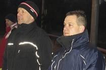 Kaplická trenérská dvojice Petr Lesňák a Jaroslav Kučera (zleva).