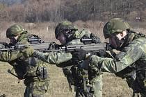 Vojenské cvičení v Boleticích.