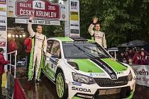 Vítězi 43. ročníku Rallye Český Krumlov 2015 se stal Jan Kopecký a Pavel Dresler, kteří na Českokrumlovsku předvedli novou Škodu Fabia R5.