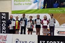 Badminton Czech Talent 2018 v Českém Krumlově - zlatá Eliška Mikešová.