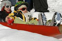 Frymburský vrch Marta je pověstný například svým Mezinárodním mistrovstvím v jízdě na ruských bobech.