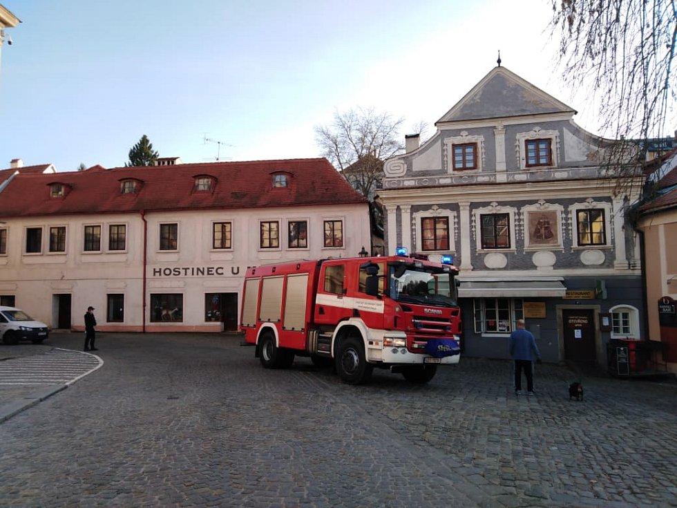 Čtvrteční výbuch plynu v centru Českého Krumlova.