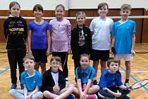 Družina nejmenších nadějí krumlovského SKB na posledním hraném turnaji Budějovických přípravek.