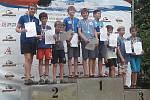 Mládí SK Vltava Český Krumlov při Mistrovstvích ČR žáků ve slalomu a sprintu na divoké vodě v Brandýse nad Labem.