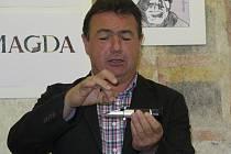 Prezentace vína odrůdy Solaris, které se pěstuje také v Českém Krumlově.
